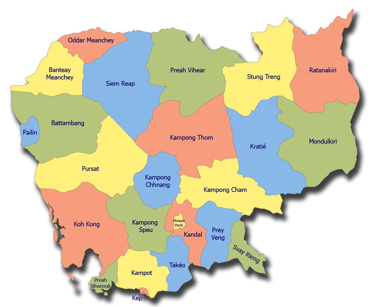 Camboya Mapa Png Mapa De Camboya Png Sur Este De Asia Asia